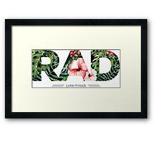 Junkie Threads RAD Framed Print