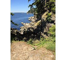 Hiking in Larrabee State Park Photographic Print