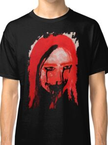 Creppy scary horror Lady Classic T-Shirt