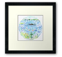 Five Boats in the Bay Framed Print