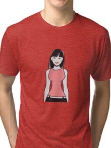 girl style fashion chic schön  Tri-blend T-Shirt