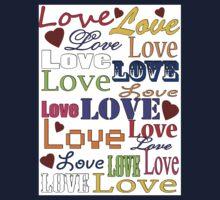 Love Love Love Kids Tee