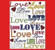 Love Love Love Baby Tee