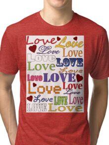 Love Love Love Tri-blend T-Shirt