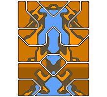 Orange Organic Grid Design Photographic Print