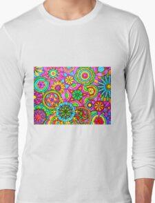 WONDER COLOR WHEELS kaleidoscopes Long Sleeve T-Shirt
