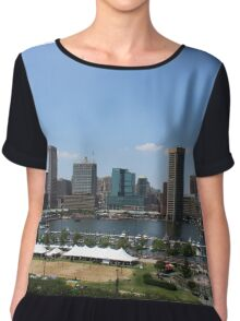 Baltimore skyline Chiffon Top