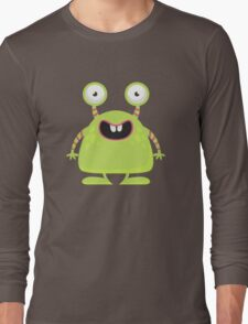 Cute Silly Monster Thing Long Sleeve T-Shirt