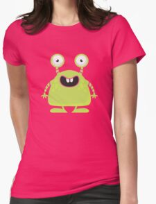 Cute Silly Monster Thing Womens Fitted T-Shirt