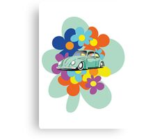 VW Beetle Flower Bug Canvas Print