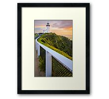 Cape Byron Lighthouse at Sunrise Framed Print