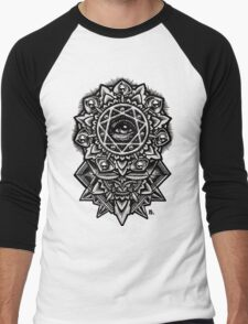 Eye of God Flower Mandala Men's Baseball ¾ T-Shirt