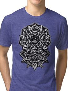 Eye of God Flower Mandala Tri-blend T-Shirt