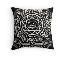 Eye of God Flower Mandala Throw Pillow