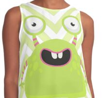 Cute Silly Monster Thing Contrast Tank