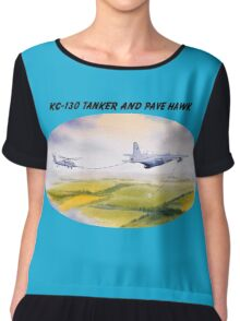 KC-130 Tanker And Pave Hawk HH60 Chiffon Top