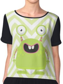 Cute Silly Monster Thing Chiffon Top