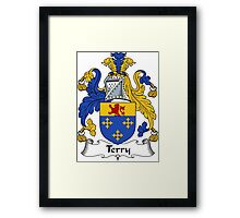Terry Coat of Arms / Terry Family Crest Framed Print