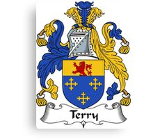 Terry Coat of Arms / Terry Family Crest Canvas Print