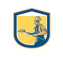 Baker Pizza Maker Holding Peel Pizza Shield by patrimonio