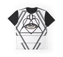 Diamond Sacred Heart Geometry Graphic T-Shirt