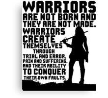 Female Warrior (Sword) Canvas Print