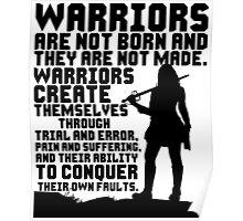Female Warrior (Sword) Poster