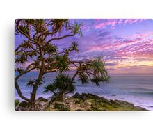 Sunrise and Pandanus Palms Metal Print