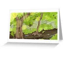 Green Woods Greeting Card