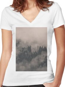 Somewhere in Your Heart Women's Fitted V-Neck T-Shirt