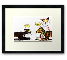 SkyeCatz Introductions Framed Print