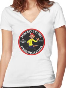 Nsw Firefighters Group Women's Fitted V-Neck T-Shirt