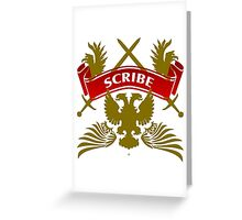 The Scribe Coat-of-Arms Greeting Card