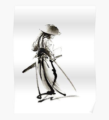 Samurai Ronin Japan art samurai sword armor samurai mask katana sword samurai avatar japan poster japan wall decor japan poster japan print costume samurai clothing samurai decall samurai avatar Poster