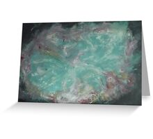 Crab Nebula - Mother of Pearl Greeting Card