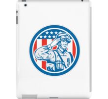 Soldier Military Serviceman Salute Circle Retro iPad Case/Skin