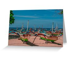 Smiling Bali Outriggers Greeting Card