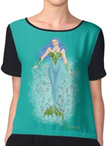 The Aquatic Princess of Salineas by Kevenn T. Smith Chiffon Top
