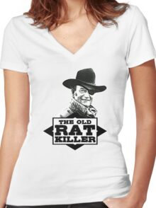 The Old Rat Killer Women's Fitted V-Neck T-Shirt