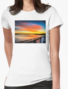 Pioneer River Sunset Womens Fitted T-Shirt
