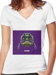 Donatello Mutant Ninja Turtle Women's Fitted V-Neck T-Shirt