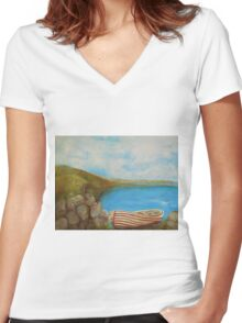 Until the Next Time Women's Fitted V-Neck T-Shirt