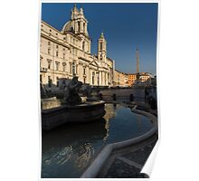Shadow and Light - Piazza Navona in Rome, Italy  Poster