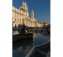 Shadow and Light - Piazza Navona in Rome, Italy  Photographic Print