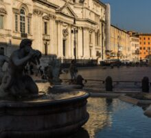 Shadow and Light - Piazza Navona in Rome, Italy  Sticker
