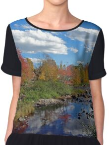 Fall In Small Town Maine Chiffon Top