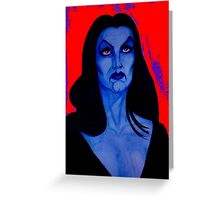 vampira blood Greeting Card