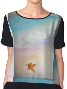 Just you and the lone starfish  Chiffon Top