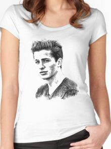 charlie puth Women's Fitted Scoop T-Shirt