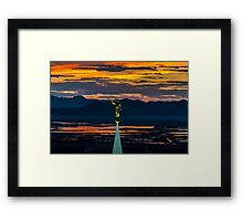 Bountiful Sunset - Moroni Statue - Utah Framed Print